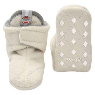Buciki niemowlęce Lodger Slipper, polarowe, Botanimal Ivory